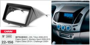Переходная рамка Mitsubishi L200, Pajero Sport, Challenger, Pajero Dakar Carav 22-156
