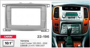 Переходная рамка Toyota Land Cruiser 100, Lexus LX470 Carav 22-196