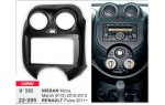 Переходная рамка Nissan Micra, March, Renault Pulse Carav 22-295
