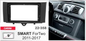 Переходная рамка Smart ForTwo Carav 22-358