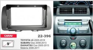 Переходная рамка Daihatsu Materia, Toyota bB, Subaru Dex Carav 22-396