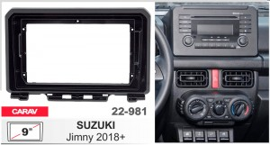 Переходная рамка Suzuki Jimny Carav 22-981