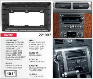 Переходная рамка Chevrolet, Hummer H2, Suzuki XL-7 Carav 22-997