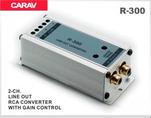Преобразователь уровня сигнала 2 канальный Carav R-300