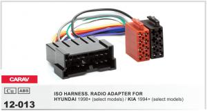 Переходник ISO Kia, Hyundai Carav 12-013