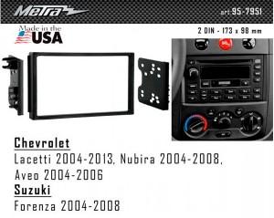 Переходная рамка Chevrolet Lacetti, Aveo, Nubira Metra 95-7951