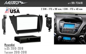 Переходная рамка Hyundai ix35, Tucson iX Metra 99-7341B