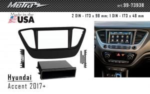 Переходная рамка Hyundai Accent Metra 99-7393B