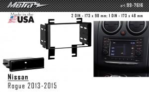 Переходная рамка Nissan Rogue Select Metra 99-7616