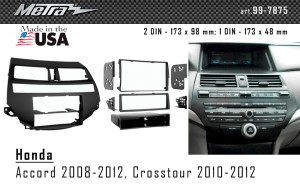 Переходная рамка Honda Accord, Crosstour Metra 99-7875