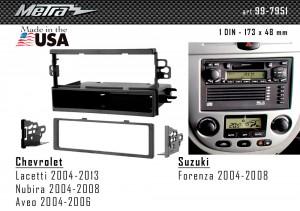 Переходная рамка Chevrolet Lacetti, Aveo, Nubira Metra 99-7951