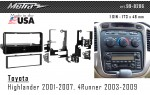Переходная рамка Toyota Highlander, 4Runner Metra 99-8206