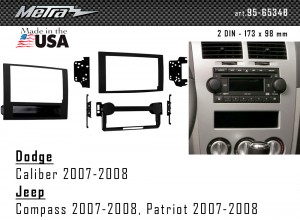 Переходная рамка Dodge Caliber, Jeep Compass, Patriot Metra 95-6534B