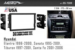 Переходная рамка Hyundai Santa Fe, Sonata Metra 95-7309