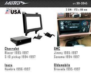 Переходная рамка Chevrolet, GMC, Isuzu, Oldsmobile Metra 99-3045