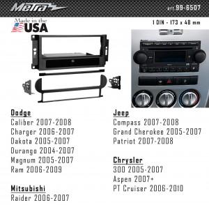 Переходная рамка Chrysler, Dodge, Jeep Metra 99-6507