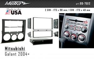 Переходная рамка Mitsubishi Galant Metra 99-7012