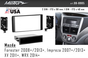 Переходная рамка Subaru Forester, Impreza, XV, WRX Metra 99-8905B