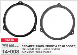 Проставки под динамики Carav 14-008 для автомобилей Hyundai, Kia