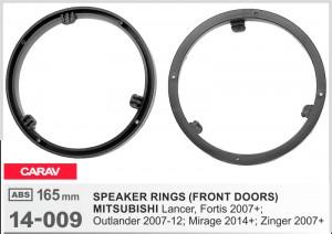 Проставки под динамики Carav 14-009 для автомобилей Mitsubishi