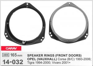 Проставки под динамики Carav 14-032 для автомобилей Opel Corsa, Vivaro, Tigra