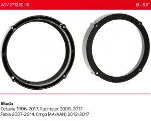 Проставки под динамики ACV 271320-16 для автомобилей Skoda
