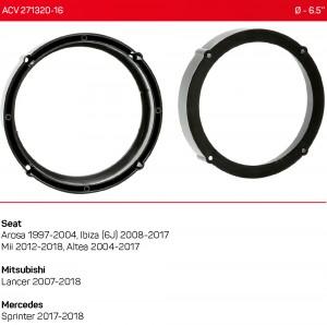 Проставки под динамики ACV 271320-16 для автомобилей Seat, Mitsubishi, Mercedes