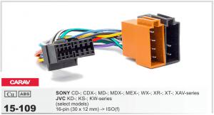 Разъем для магнитолы Sony, JVC Carav 15-109